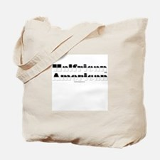 Half White/Half Black Tote Bag