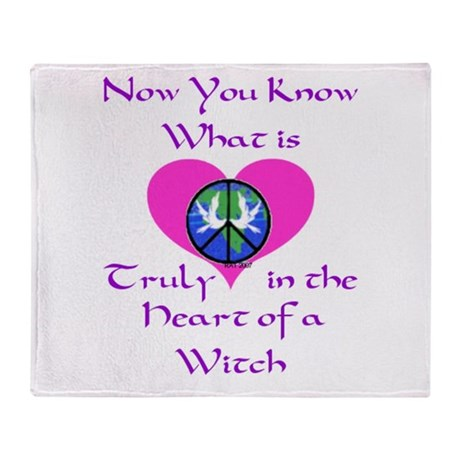 in the Heart of a Witch.jpg Throw Blanket