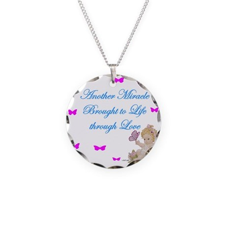 Miracle thru love.jpg Necklace Circle Charm