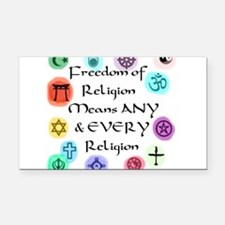 Freedom of Religion.jpg Rectangle Car Magnet