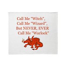 Never Warlock.jpg Throw Blanket
