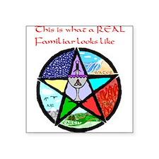 3-Elemental Pentagram shirt 2.jpg Square Sticker 3