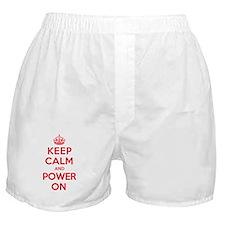 Keep Calm Power Boxer Shorts
