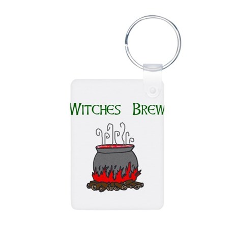 Witches Brew.jpg Aluminum Photo Keychain
