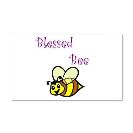 Blessed Bee.jpg Car Magnet 20 x 12