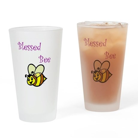 Blessed Bee.jpg Drinking Glass