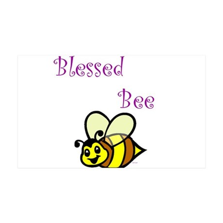 Blessed Bee.jpg 35x21 Wall Decal