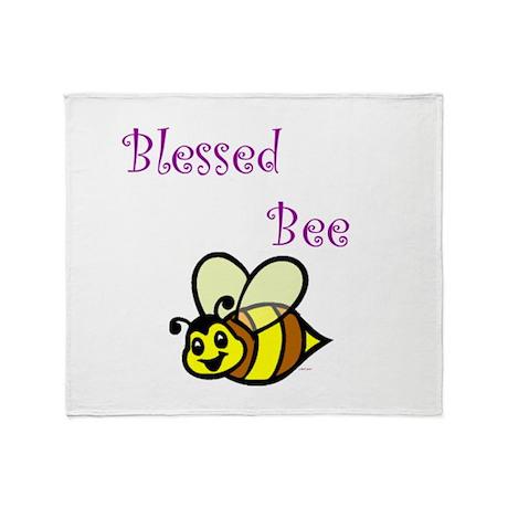 Blessed Bee.jpg Throw Blanket