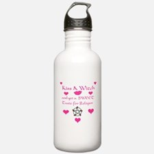 3-kiss a witch.jpg Water Bottle