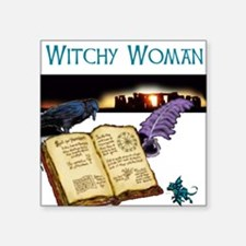"""Witchy woman 2.jpg Square Sticker 3"""" x 3"""""""