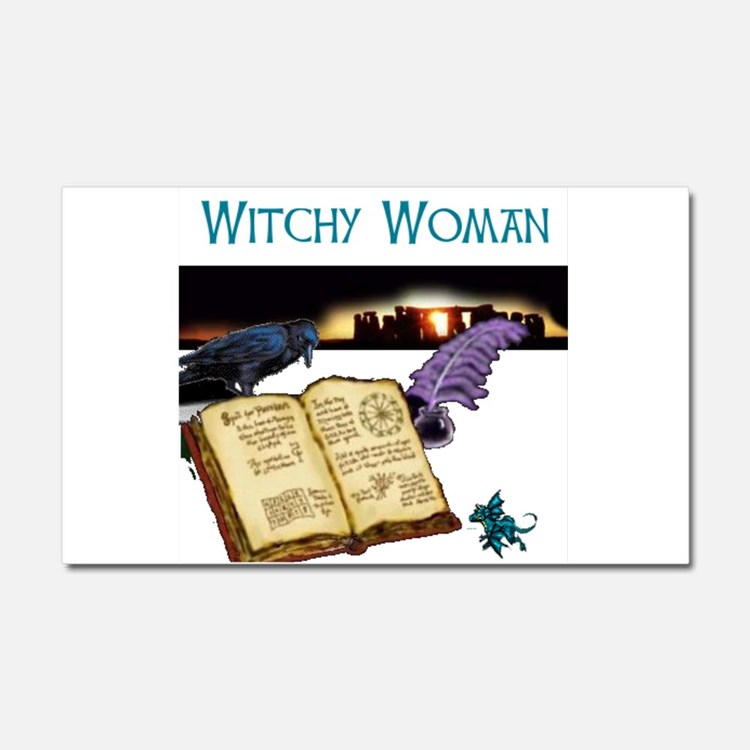 Witchy woman 2.jpg Car Magnet 20 x 12