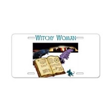 Witchy woman 2.jpg Aluminum License Plate