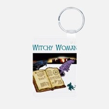 Witchy woman 2.jpg Keychains