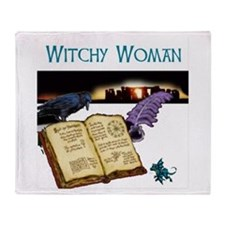 Witchy woman 2.jpg Throw Blanket