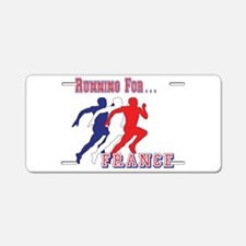 French Running Aluminum License Plate