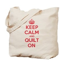 Keep Calm Quilt Tote Bag