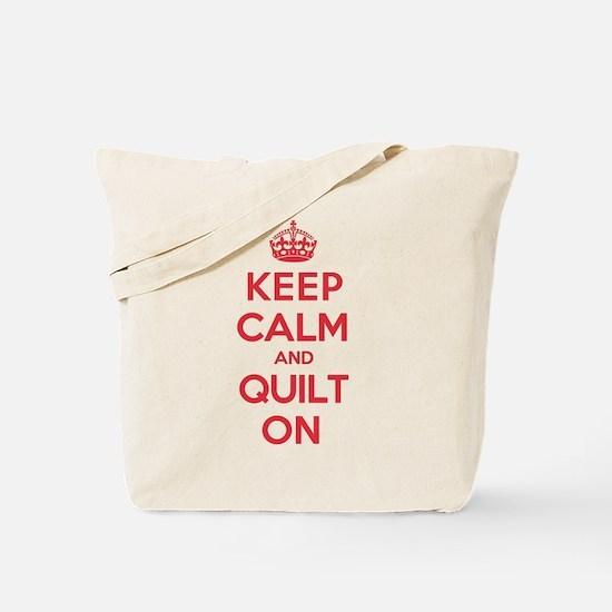 Keep Calm Quilt Tote Bag