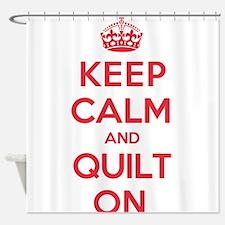 Keep Calm Quilt Shower Curtain