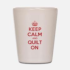 Keep Calm Quilt Shot Glass