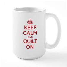 Keep Calm Quilt Ceramic Mugs