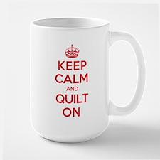 Keep Calm Quilt Large Mug
