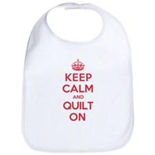 Keep Calm Quilt Bib