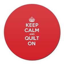 Keep Calm Quilt Round Car Magnet