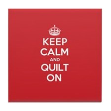 Keep Calm Quilt Tile Coaster