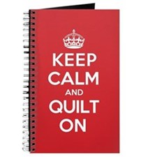 Keep Calm Quilt Journal