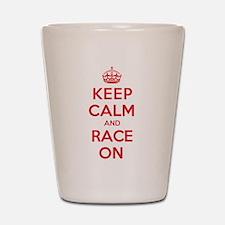 Keep Calm Race Shot Glass