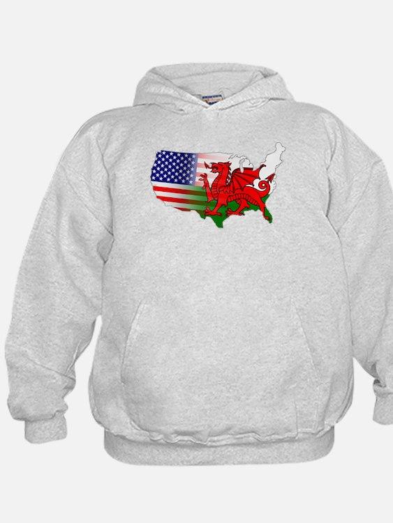 American Welsh Map Hoodie