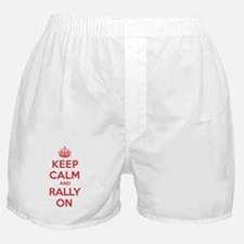 Keep Calm Rally Boxer Shorts