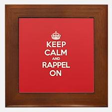 Keep Calm Rappel Framed Tile