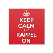 "Keep Calm Rappel Square Sticker 3"" x 3"""
