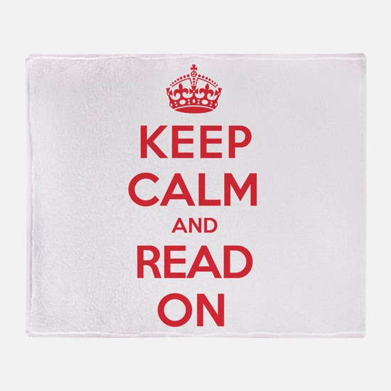 Keep Calm Read Throw Blanket
