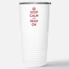 Keep Calm Read Stainless Steel Travel Mug