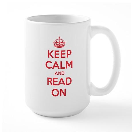 Keep Calm Read Large Mug