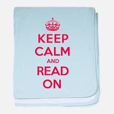 Keep Calm Read baby blanket