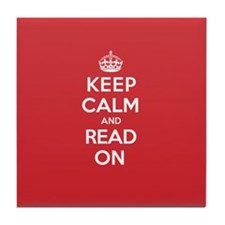Keep Calm Read Tile Coaster