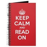 Keep calm and read on Journals & Spiral Notebooks