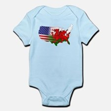 American Welsh Map Onesie