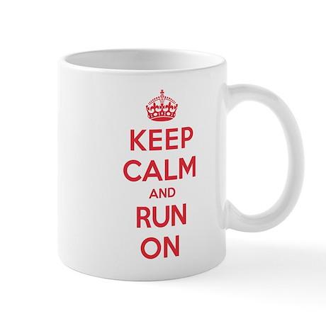Keep Calm Run Mug