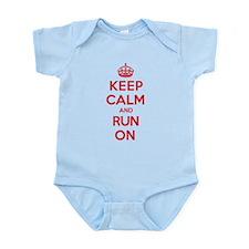 Keep Calm Run Infant Bodysuit