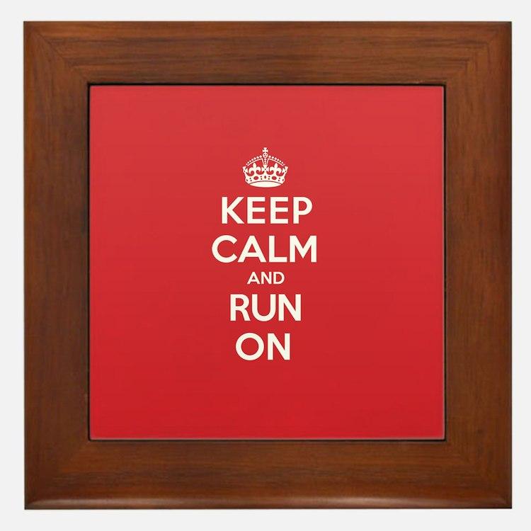 Keep Calm Run Framed Tile