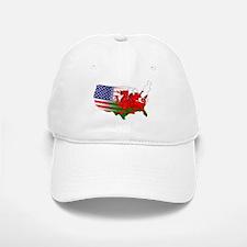 American Welsh Map Baseball Baseball Cap