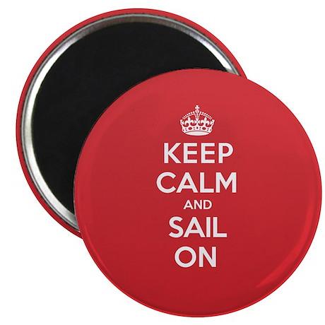 """Keep Calm Sail 2.25"""" Magnet (10 pack)"""