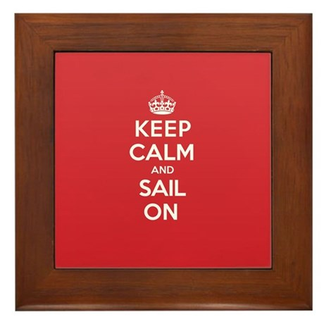 Keep Calm Sail Framed Tile