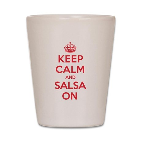 Keep Calm Salsa Shot Glass