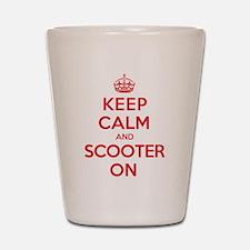 Keep Calm Scooter Shot Glass