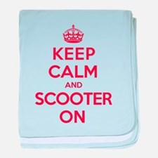 Keep Calm Scooter baby blanket